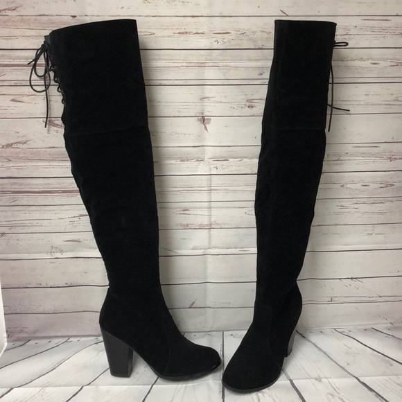 bca19d913f2 chase   chloe Shoes - Chase   Chloe synth. suede over the knee boots 10